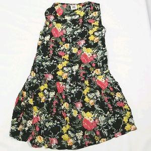Papillon Sleeveless Womens Flower Dress Sz L